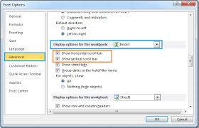 how to show or hide horizontal u0026 vertical scroll bar in microsoft