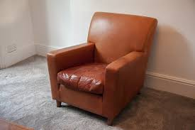 Heals Armchair Terence Conran Tan Leather Armchair Poet And Green