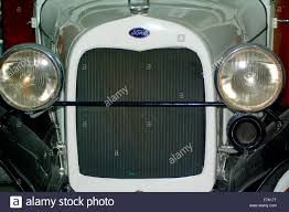 Old Ford Truck Paint Colors - radiator grill from vintage ford truck white paint stock photo