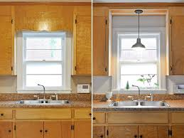 Kitchen Sink Lighting Remove Decorative Wood Kitchen Sink And Install Pendant
