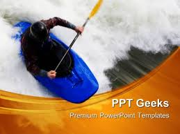 whitewater surfing sports powerpoint templates and powerpoint