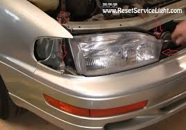 how to change the headlight assembly on toyota camry 1992 1994