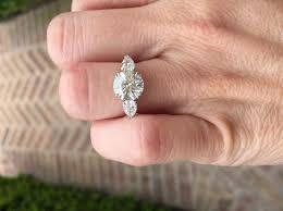Reset Wedding Ring by Jewel Of The Week Stunning Reset 3 Stone Diamond Ring Pricescope