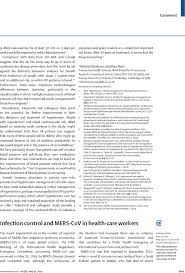 Personal Injury Paralegal Resume Infection Control And Mers Cov In Health Care Workers The Lancet