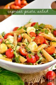 light olive oil pasta sauce caprese pasta salad gluten free appetizer recipe