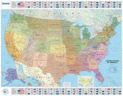 United States Political Map by Usa Political Michelin Wall Map Michelin Maps U0026 Guides