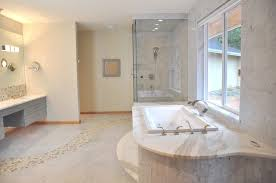 river rock bathroom ideas bathroom marble floor with river rock design contemporary