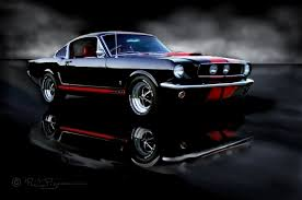 Black Mustang With Red Stripes Phil U0027s 1965 Mustang Gt A Code Fastback Raven Black With Red Pony