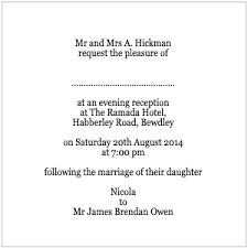 Post Wedding Reception Invitation Wording Invitation Wording For Reception Only Samples