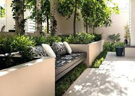 Garden Bench With Planters Roof Garden Planters Curved Box Hedge In Planter Against Curved