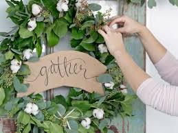 how to make a greenery garland wreath hgtv
