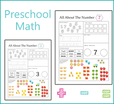preschool math all about numbers one beautiful home