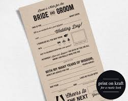 marriage advice cards for wedding wedding advice card mad libs wedding printable marriage advice