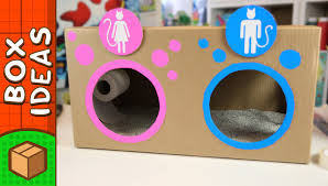 diy cat toilet craft ideas for kids on box yourself video blog