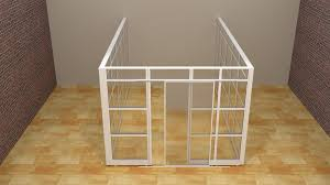 Office Wall Dividers by Modern Glass Wall Office Cubicle With Door Demountable Walls Room