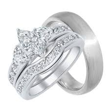 Wedding Rings Sets For Him And Her by His And Hers Wedding Rings Sterling Silver Titanium Stainless