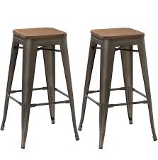 furniture american style 30 inch bar stools in brown for kitchen