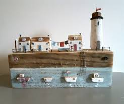 lighthouse home decor handmade driftwood lighthouse cottage sculpture rustic ornament