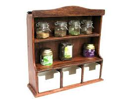 Wooden Spice Cabinet With Doors Vintage Spice Rack Etsy