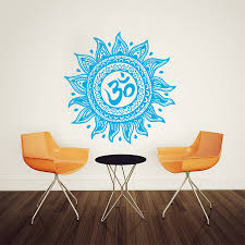 moroccan wall murals promotion shop for promotional moroccan wall art home decor mural mandala ornament indian moroccan pattern wall dticker vinyl yoga namaste lotus flower decal sticker m 118