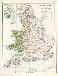 Lancaster Map England And Wales Under The House Of Lancaster 3135 X 4126 Mapporn