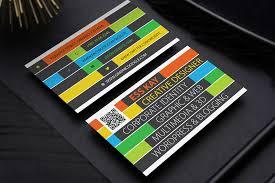 free creative business card template design ai vector file