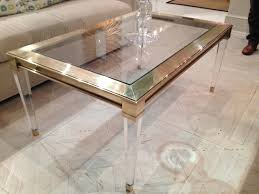 coffee table amazing salma acrylic and brass coffee table mecox