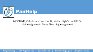 curve sketching assignment virtual high vhs mcv4u