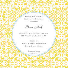 graduation lunch invitation wording dandi designs graduation invitations