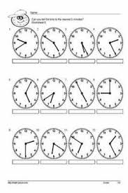 telling time worksheets telling time worksheets and frogs