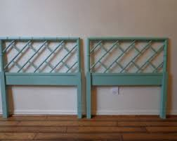 wicker headboard etsy