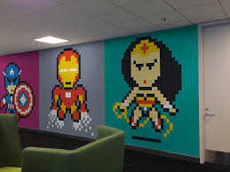 awesome office mural made with 8 024 post its page 2 of 2 best superhero post it mural 29