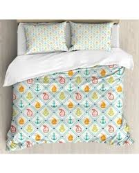 Anchor Bedding Set Amazing Shopping Savings Nautical Decor Size Duvet Cover Set