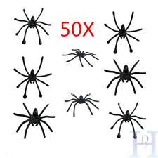 Decorative Spiders Plastic Spiders Party Supplies Ebay