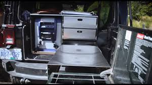 overland jeep kitchen overland adventure jeep with rooftop tent and specifically built
