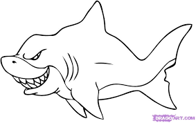 how to draw shark drawing and digital painting tutorials online
