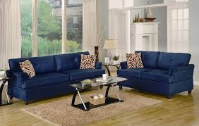 Blue Sofas And Loveseats F7637 Navy Blue Sectional Sofa Set Poundex Colour Amanmirror Rho