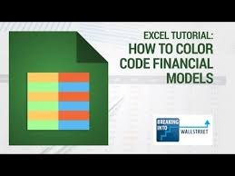 youtube color code excel tutorial how to color code financial models youtube