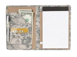 camouflage padfolio organizer folder with business card slot