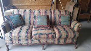 Horsehair Sofa Antique Victorian Style Re Upholstered Couch With Original