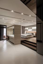 Raised Platform Bed Bedroom Recessed Downlights Also Modern Platform Bed With Built In