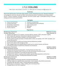 hvac resume exles hvac technician resume exles best and refrigeration cooperative