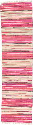 Dhurrie Runner Rugs Pink 2 X 7 10 Kilim Dhurrie Runner Rug Modern Rugs Esalerugs