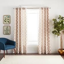 Black Out Curtain Panels Lush Decor Edward Moroccan Pattern Blackout Curtain Panel Pair