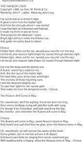 Light In Your Eyes Lyrics Old Time Song Lyrics For 34 The Harbor Light