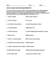 english grammar worksheet on commonly confused words by martin