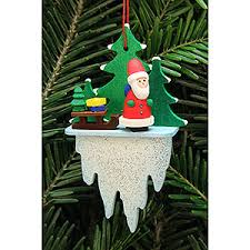 tree ornament santa claus with sleigh on icicle 5 5 8 8 cm 2 2