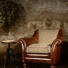 Tweed Armchair Classic Harris Tweed Tetrad Ltd British Handcrafted