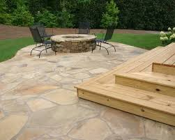 Outdoor Slate Patio Outdoor Living Awesome Backyard Decorating Idea With Flagstone