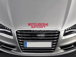 mitsubishi red 1 x mitsubishi sport sticker for bonnet red indecals com